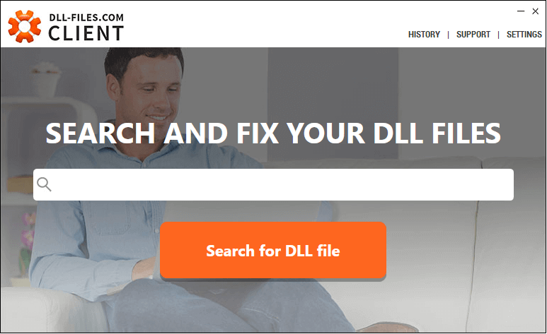 Search dll files with DLL-Files-com Client