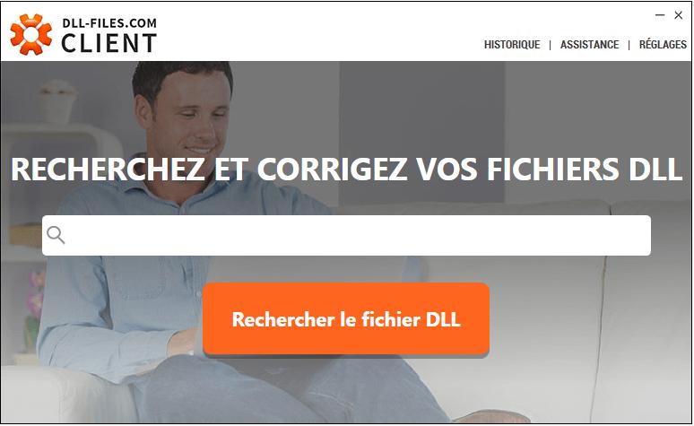 Recherchez des fichiers dll avec DLL-Files-com Client